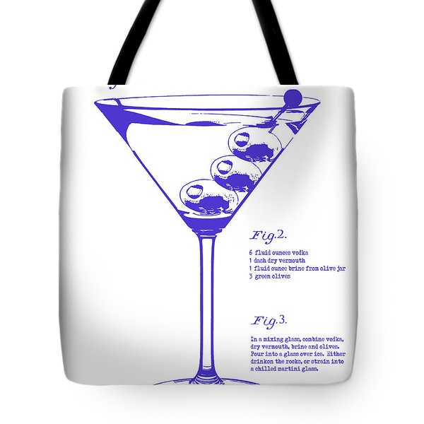 Dirty Martini Blueprint Tote Bag by Jon Neidert