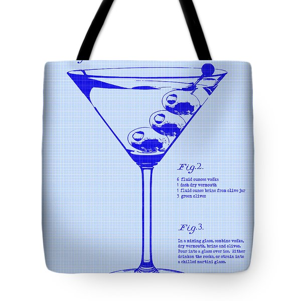 Dirty Martini Patent Tote Bag by Jon Neidert