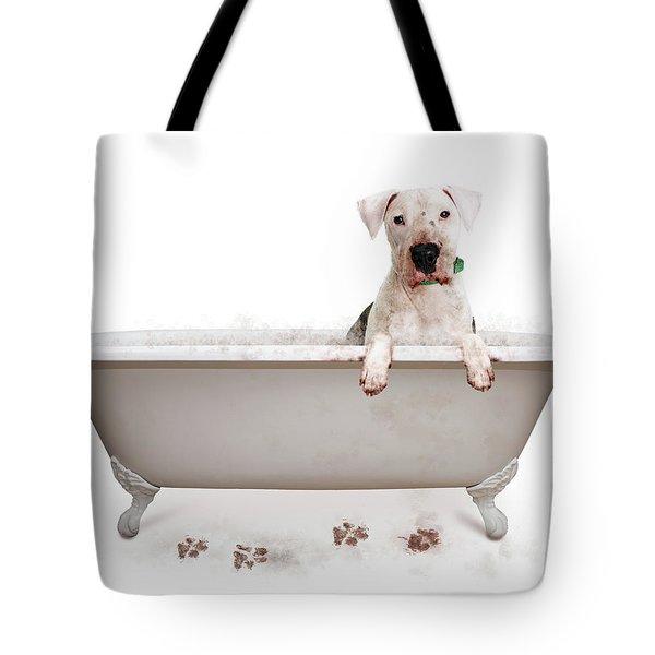 Dirty Muddy Bad Dog Tote Bag