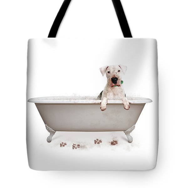 Dirty Muddy Bad Dog Tote Bag