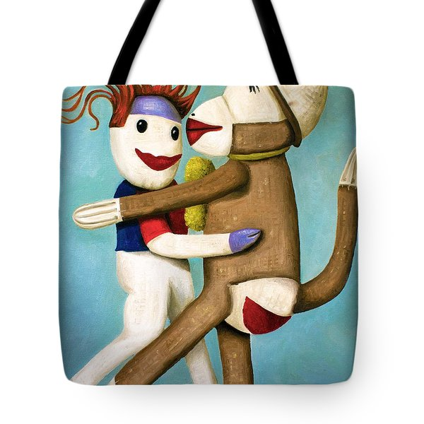 Dirty Socks Dancing The Tango Tote Bag by Leah Saulnier The Painting Maniac