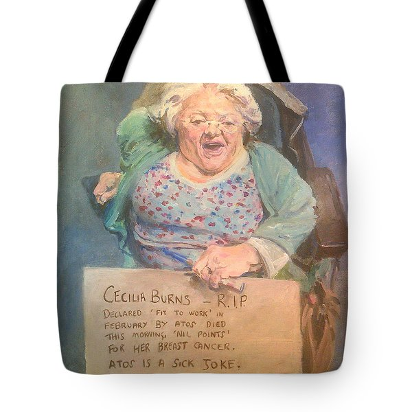 Disability Protester Remembers Cecilia Burns Tote Bag