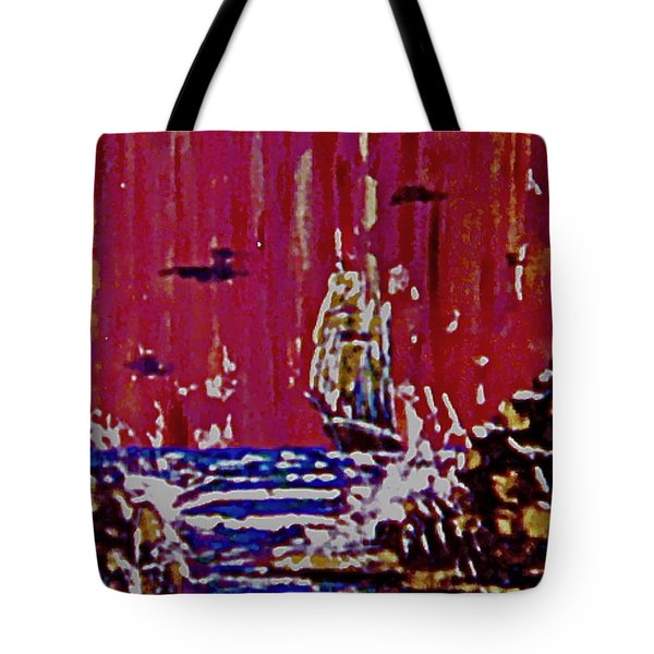 Disaster On The Reef Tote Bag
