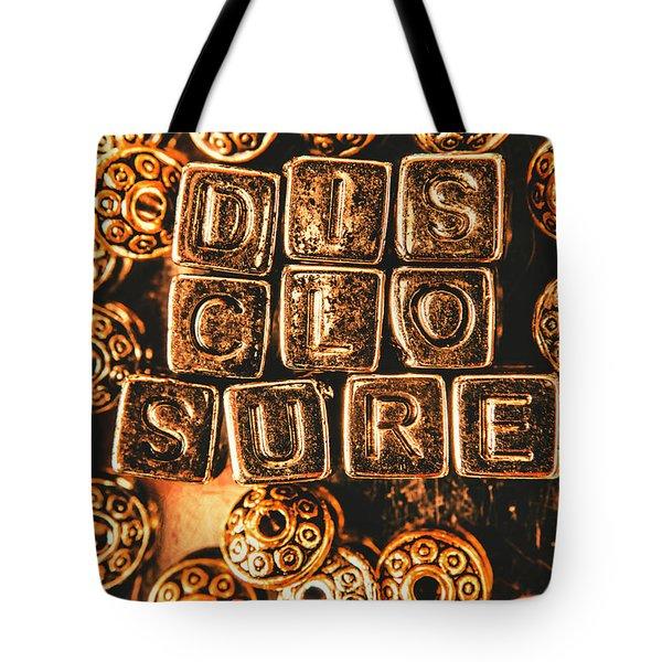 Disclosure Tote Bag