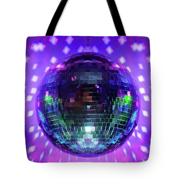 Disco Ball Purple Tote Bag