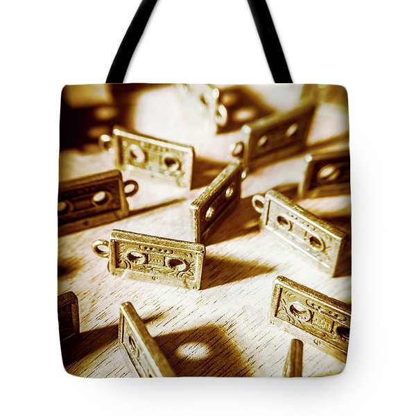 Disco Dancing Cassettes Tote Bag