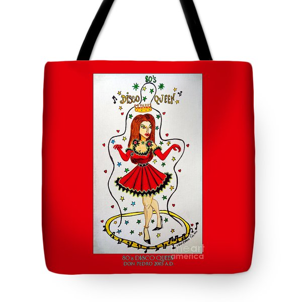 Tote Bag featuring the painting Disco Queen 80's by Don Pedro De Gracia