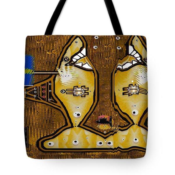 Disco Sharks Tote Bag by Pepita Selles