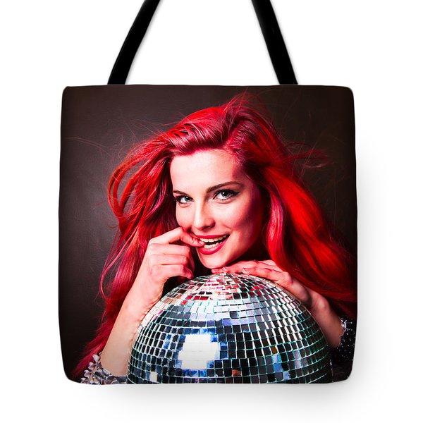 Disco Smile Tote Bag