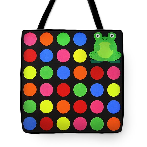 Discofrog Tote Bag by Oliver Johnston