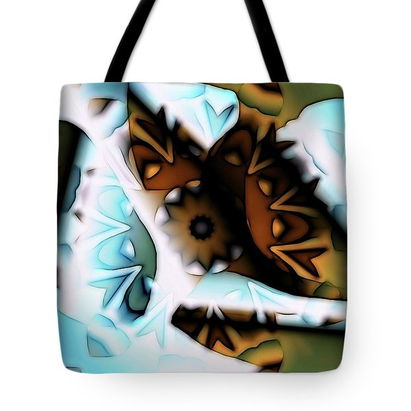 Discontinuous Permafrost Tote Bag by Ron Bissett