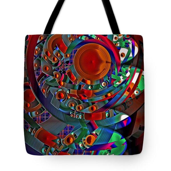 Tote Bag featuring the digital art Discopolis 10 by Lynda Lehmann
