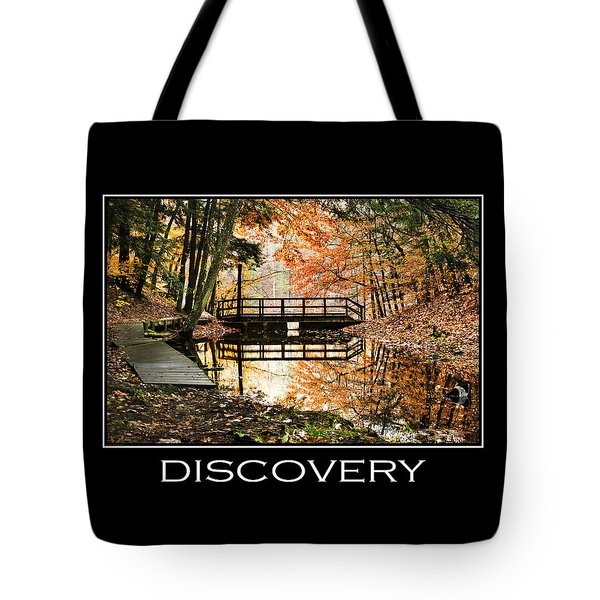 Discovery Inspirational Motivational Poster Art Tote Bag by Christina Rollo