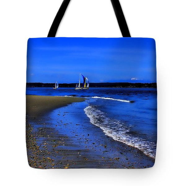 Discovery Park North Beach Tote Bag by David Patterson