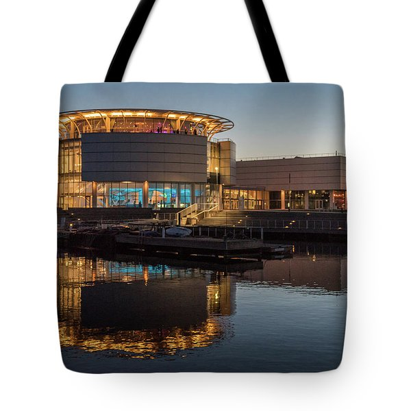 Tote Bag featuring the photograph Discovery World by Randy Scherkenbach