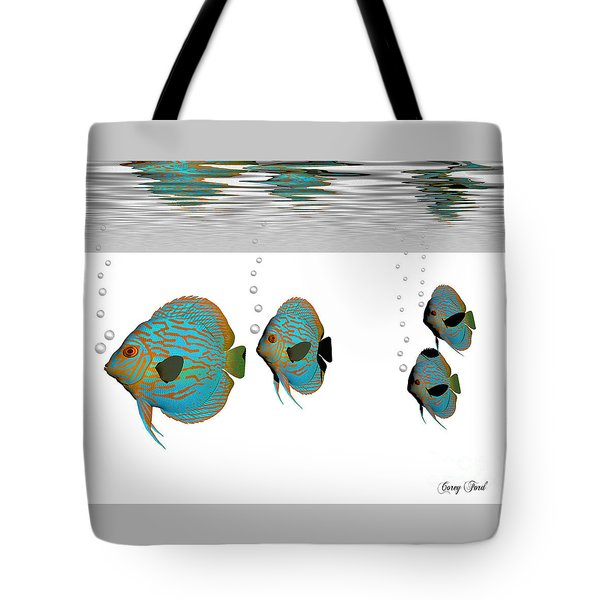 Discus Fish Tote Bag by Corey Ford