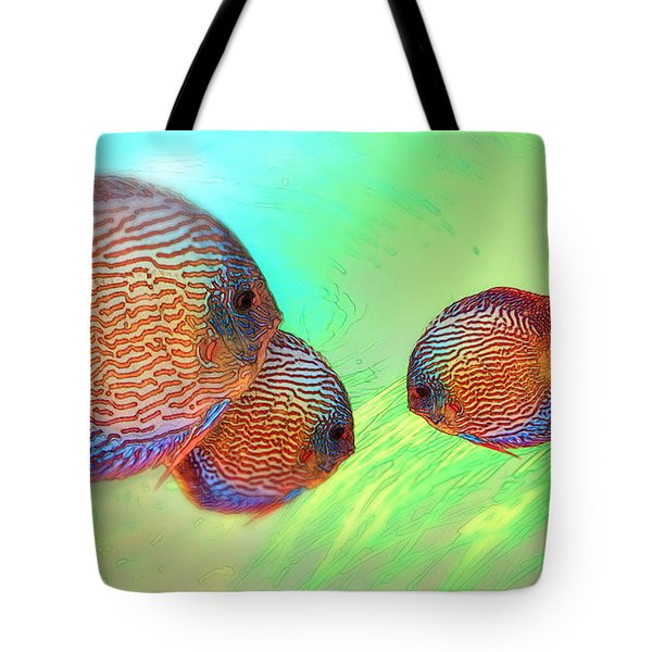 Discus In Eel Grass Tote Bag