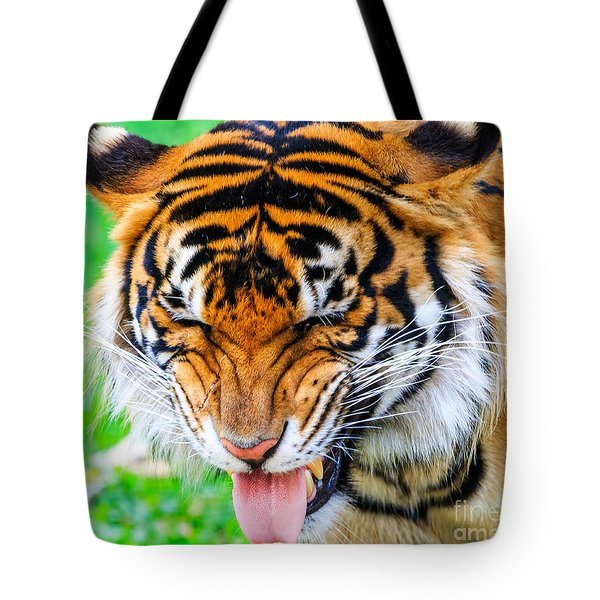 Disgusted Tiger Tote Bag