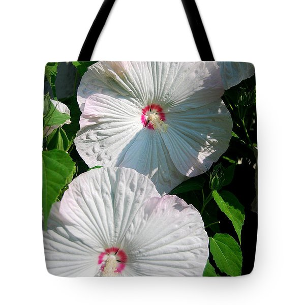 Dish Flower Tote Bag