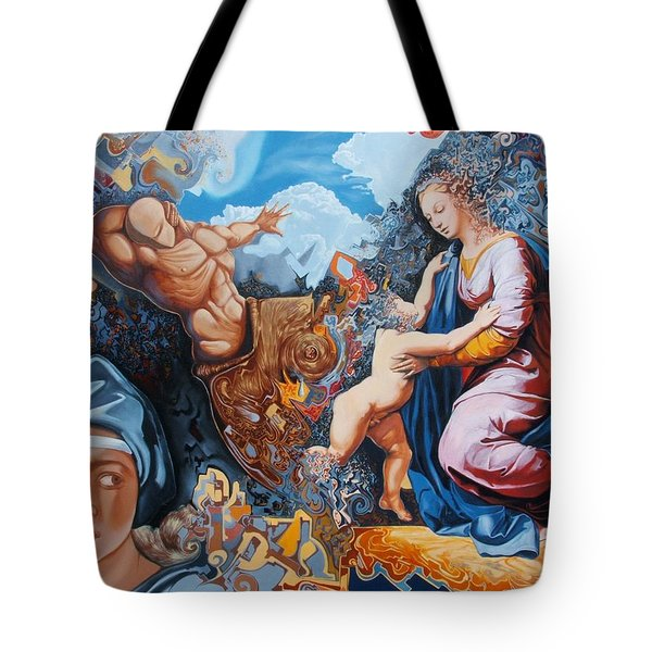 Disintegration Of The Old Ancient World Tote Bag by Darwin Leon