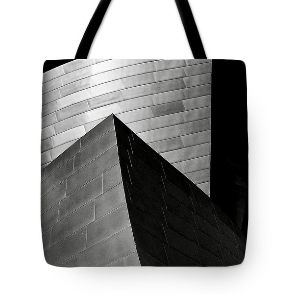 Disney Concert Hall Black And White Tote Bag