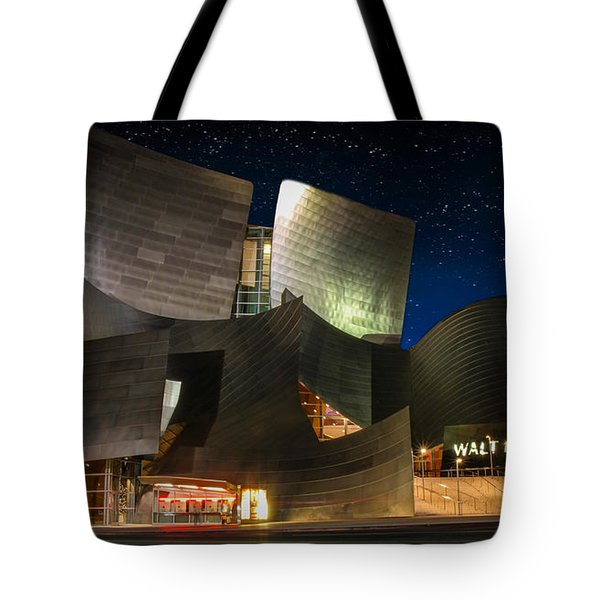 Disney Concert Hall Tote Bag by Robert Hebert