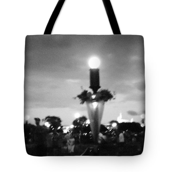 Disney Halloween Sign Tote Bag by April Patterson