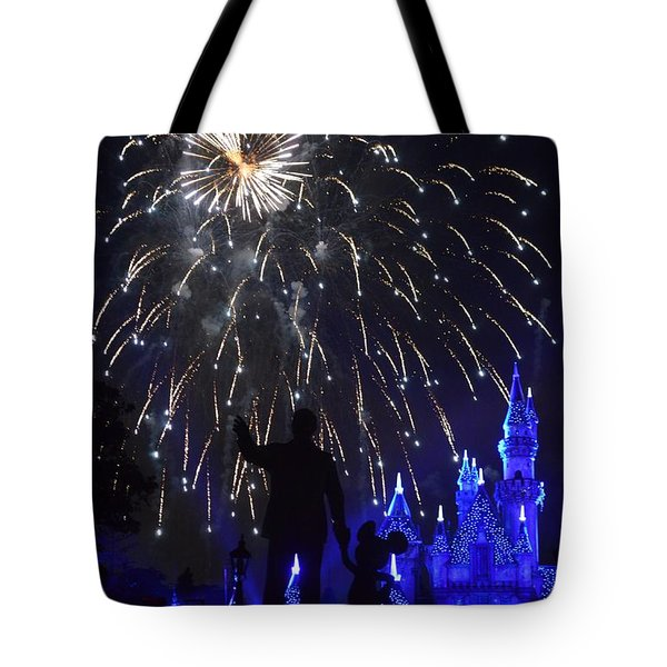 Tote Bag featuring the photograph Disney Land by Alex King