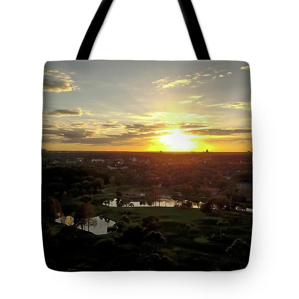 Disney Sunset Tote Bag by Michael Albright
