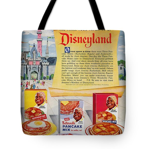 Disneyland And Aunt Jemima Pancakes  Tote Bag