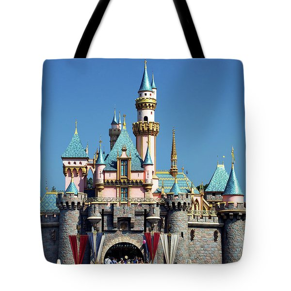 Tote Bag featuring the photograph Disneyland Castle by Mariola Bitner