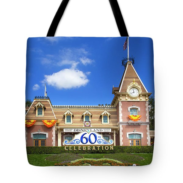 Tote Bag featuring the photograph Disneyland Entrance by Mark Andrew Thomas