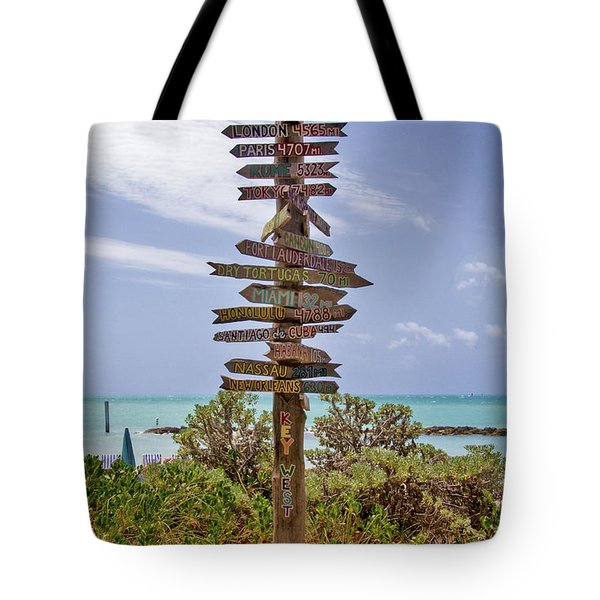 Distance From Key West Tote Bag