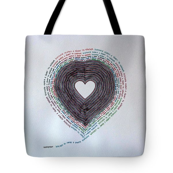 Tote Bag featuring the painting Distance by Thomas Gronowski