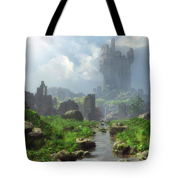 Distant Castle Tote Bag
