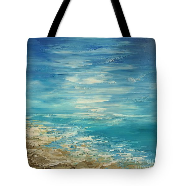 Tote Bag featuring the painting Distant Deluge by Tatiana Iliina