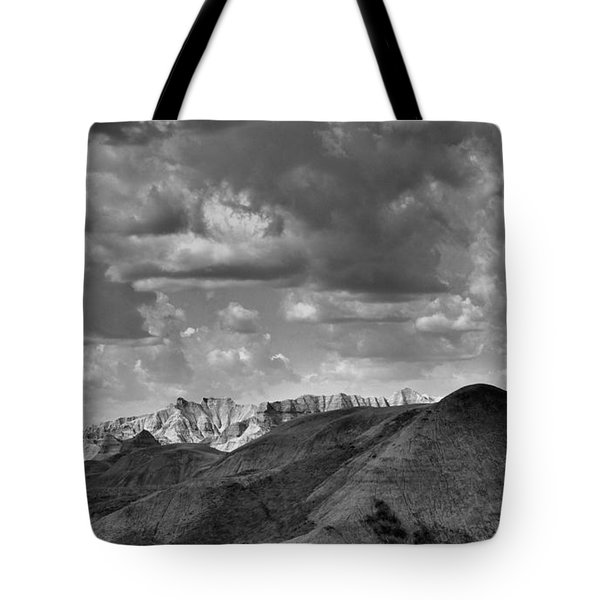 Distant Mountains The Badlands Tote Bag