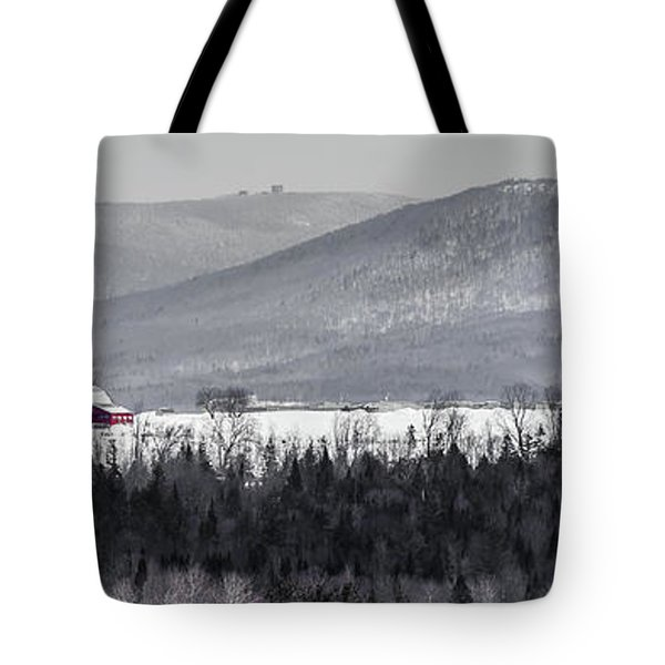 Distant Red Barn Tote Bag