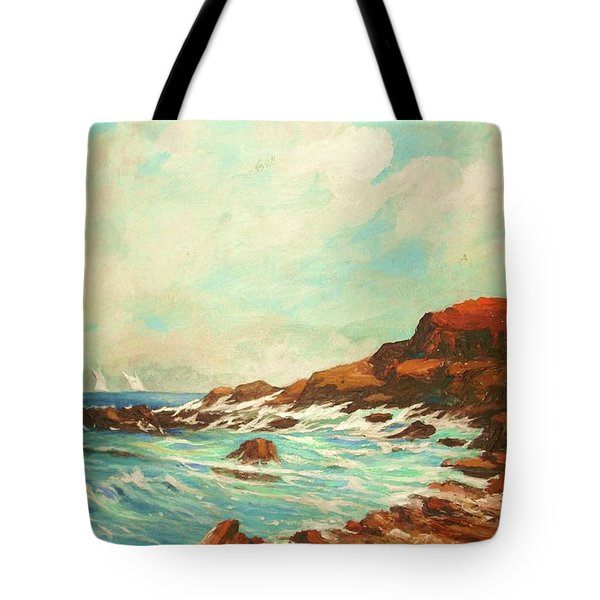 Distant Sails Of The Cove Tote Bag