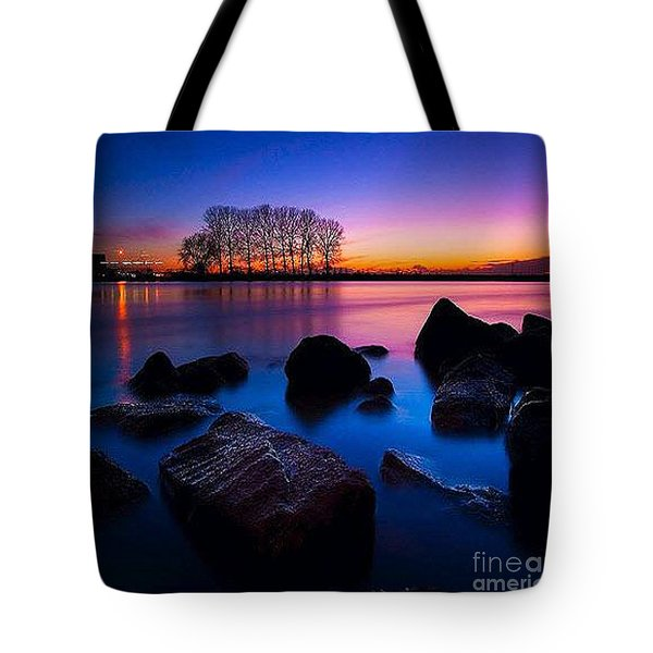 Distant Shores At Night Tote Bag