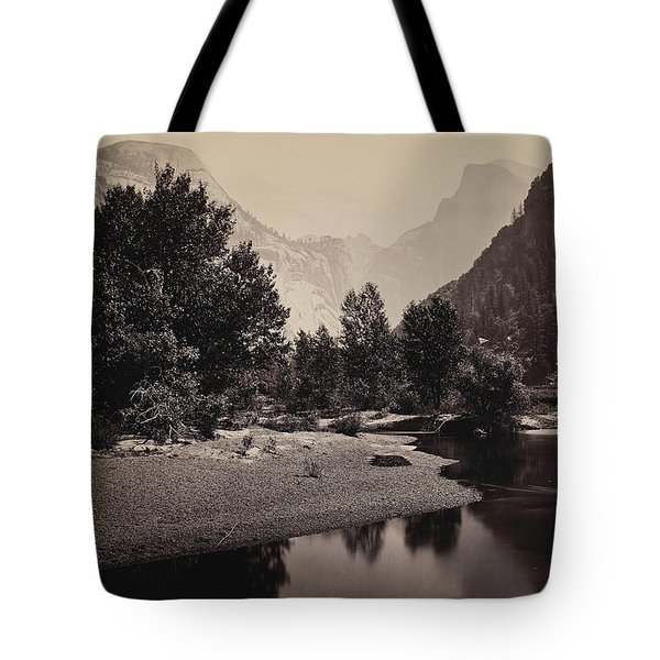 Distant View Of The Domes, Yosemite Valley, California Tote Bag