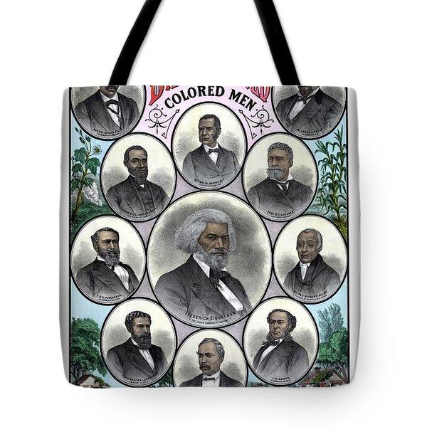 Distinguished Colored Men Tote Bag