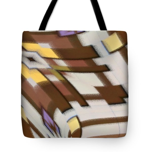 Tote Bag featuring the digital art Distortion by Wendy Wilton