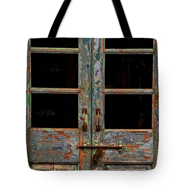 Distressed Doors Tote Bag