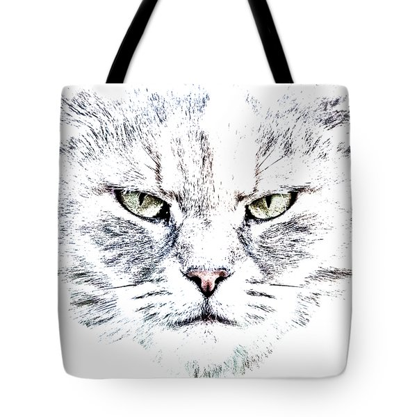 Disturbed Cat Tote Bag by Everet Regal