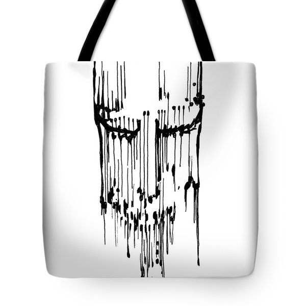 Tote Bag featuring the drawing Dither by Keith A Link