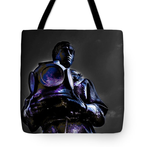Tote Bag featuring the photograph Diver by Randy Sylvia