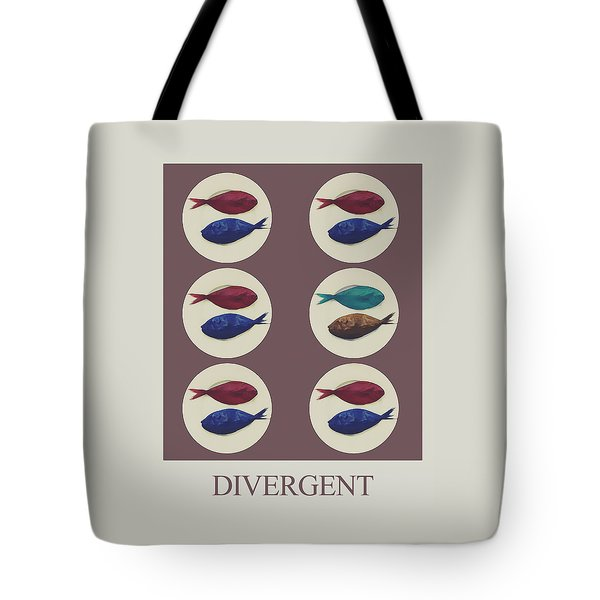 Tote Bag featuring the digital art Divergent by Galen Valle