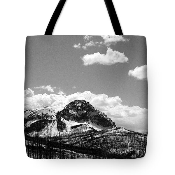 Divide In Blackand White Tote Bag