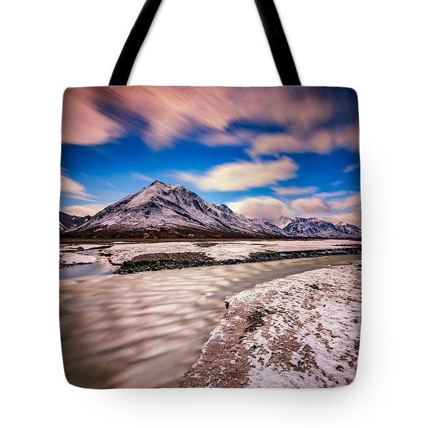 Divide Mountain Tote Bag